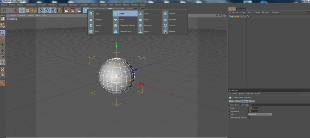 Crear un paisaje con CINEMA 4D (chroma key) C4d1