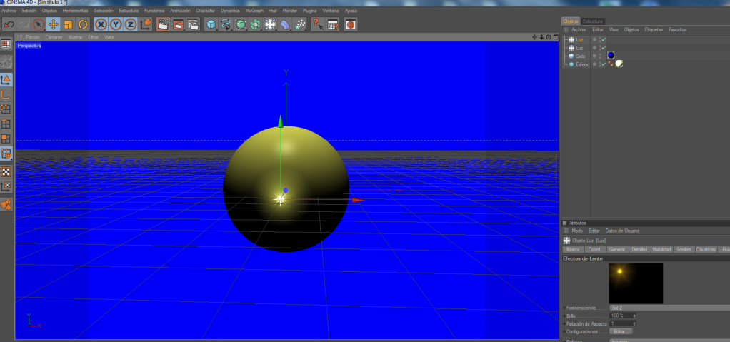 Crear un paisaje con CINEMA 4D (chroma key) C4d12