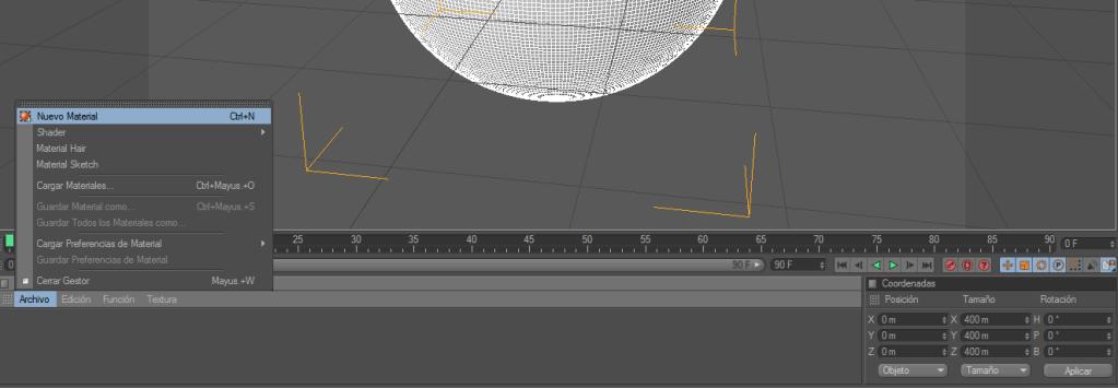 Crear un paisaje con CINEMA 4D (chroma key) C4d3