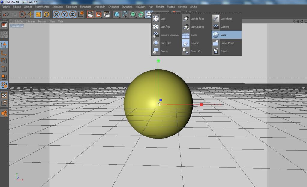 Crear un paisaje con CINEMA 4D (chroma key) C4d7