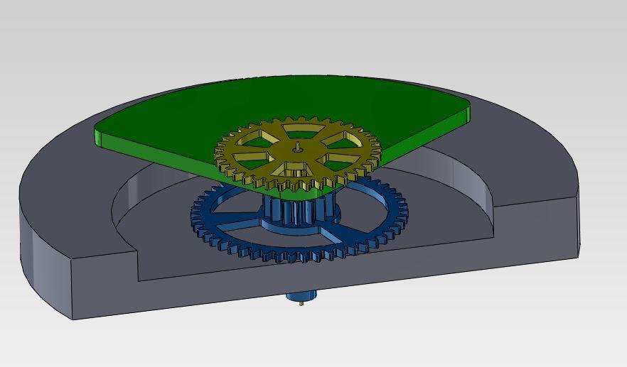 Huilage: roue de centre et roue de seconde Vue_simple