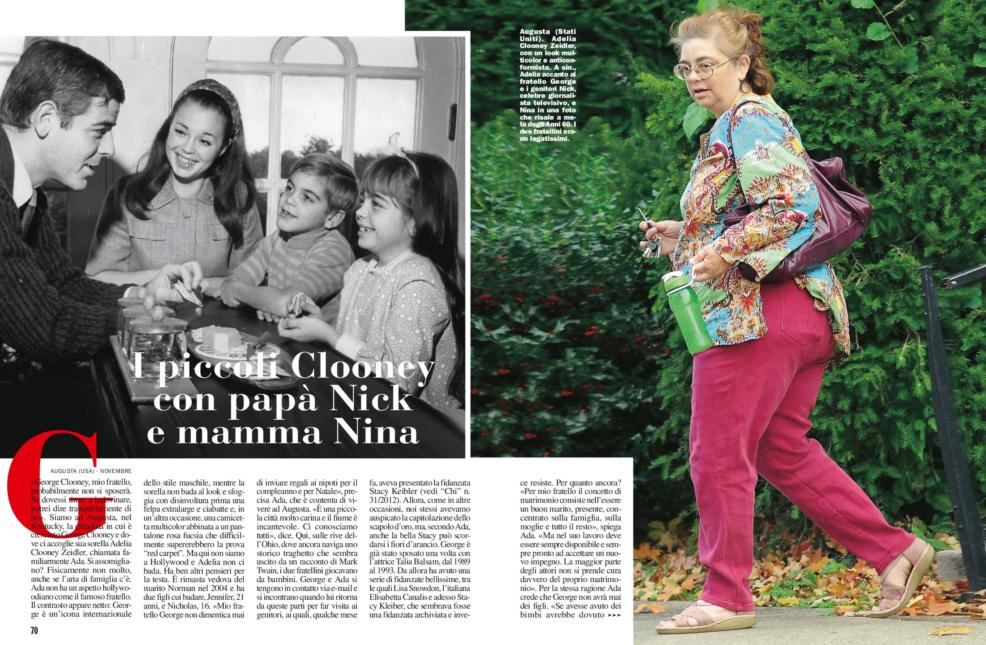 George Clooney's sister, Ada Zeidler, says he will never marry and isn't gay - Page 3 Chisorellaclooney2