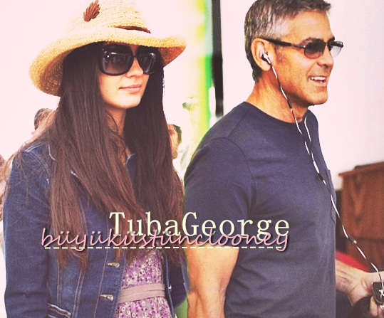 George Clooney and Tuba Buyukustun photshopped pictures 2-3