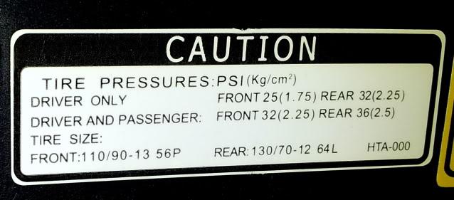Tekanan Angin / Tyre Pressure utk VTS / GTS 20120309_094645