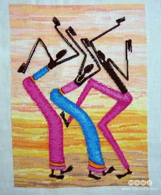 Tranh thêu chữ thập - cross stitch 3nguoi