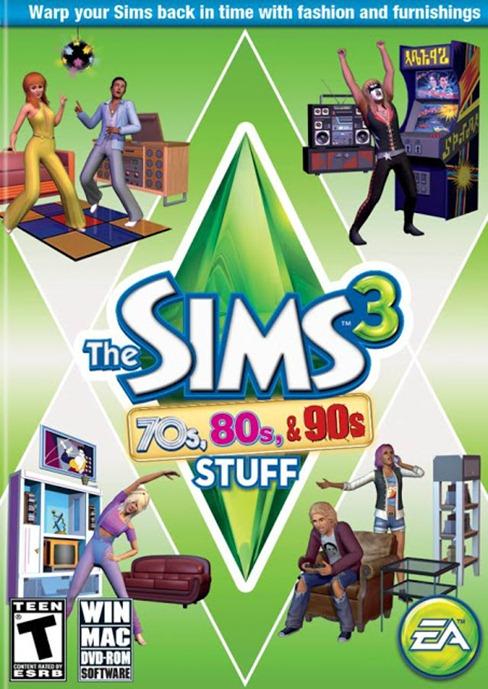 Carátula y nuevas fotos de Sims 3, Los '70, los '80 y los '90 Caratuladecadas