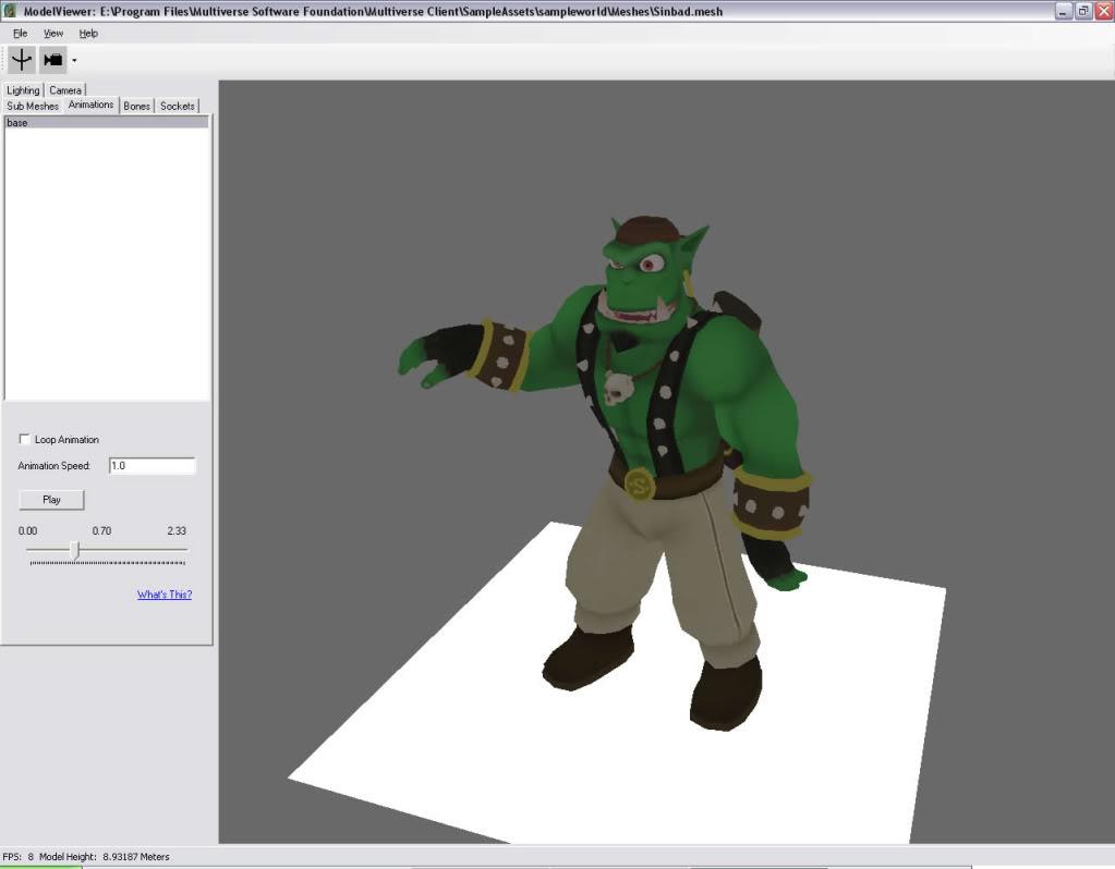 Just one animated model art path Sinbad