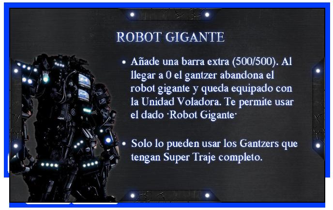 Reglas y Guias [Gantzer] RobotGigante