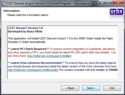 Orbx FTX CZST Stewart Airport 1.0 (Review de Rodrigo Sotto-Maior) Instalaopatch