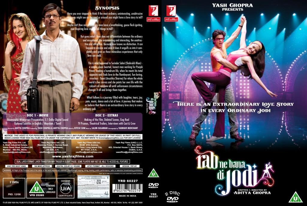 RAB NE BANA DI JODI (2.008) con SRK + Jukebox + Vídeos Musicales + Sub. Español Rab_Ne_Bana_Di_Jodi_R1_Custom-cdcovers_cc-front