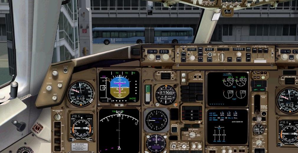 Level-D Boeing 767 - Painel 2D Widescreen  SemTtulo
