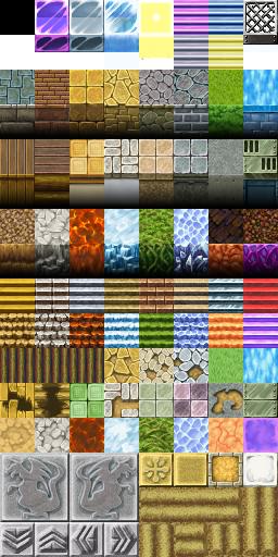 Tilesets A1 , A2 , A3 , A4 e A5 - Rpg Maker VX ACE TileA5-1