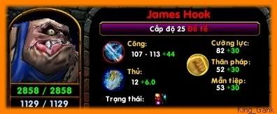 [Guide chọn lọc] Đồ Tể - James Hook Maxlvl