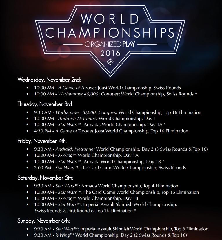 Championnat du Monde de Conquest : 2/3 Novembre 2016 Main