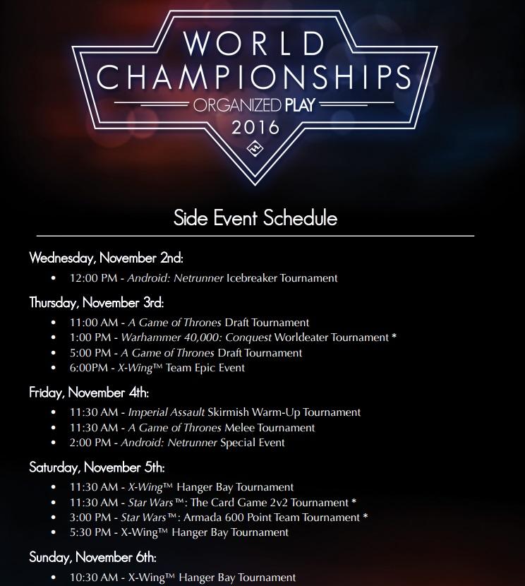 Championnat du Monde de Conquest : 2/3 Novembre 2016 Side