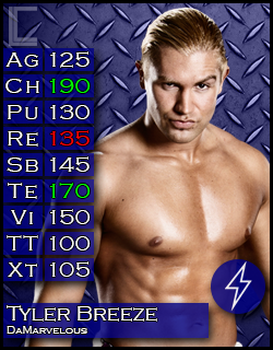 Triple Threat Extreme Rules Match: Cesaro vs Dean Ambrose vs Tyler Breeze TylerBreeze_zps5b2de439