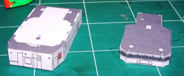 MCVD classe Kingston - maquette en papier - échelle 1:200 MCVD4
