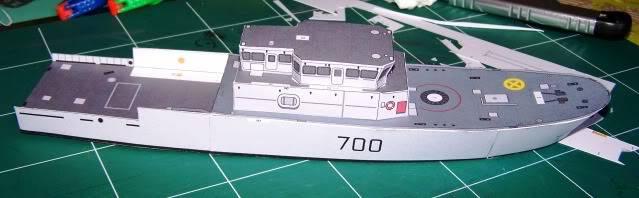MCVD classe Kingston - maquette en papier - échelle 1:200 MCVD5