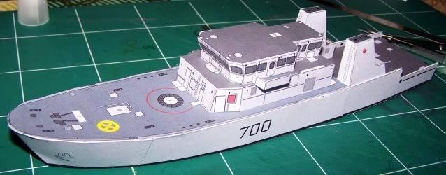 MCVD classe Kingston - maquette en papier - échelle 1:200 MCVD6