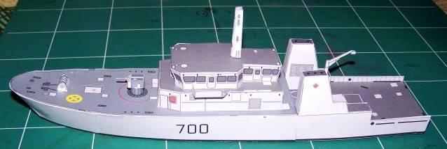 MCVD classe Kingston - maquette en papier - échelle 1:200 MCVD7
