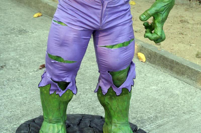 my collection 1/2 scale HULK has new pants, whats your opinion, better or worse?? - Page 2 Rippedpants