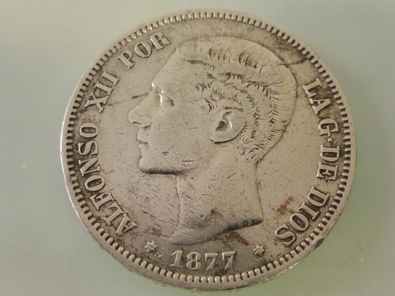 5 pesetas Alfonso XII 1875-77 y Alfonso XIII 1891-97 1877-P1010387_zpsspmgnl1v