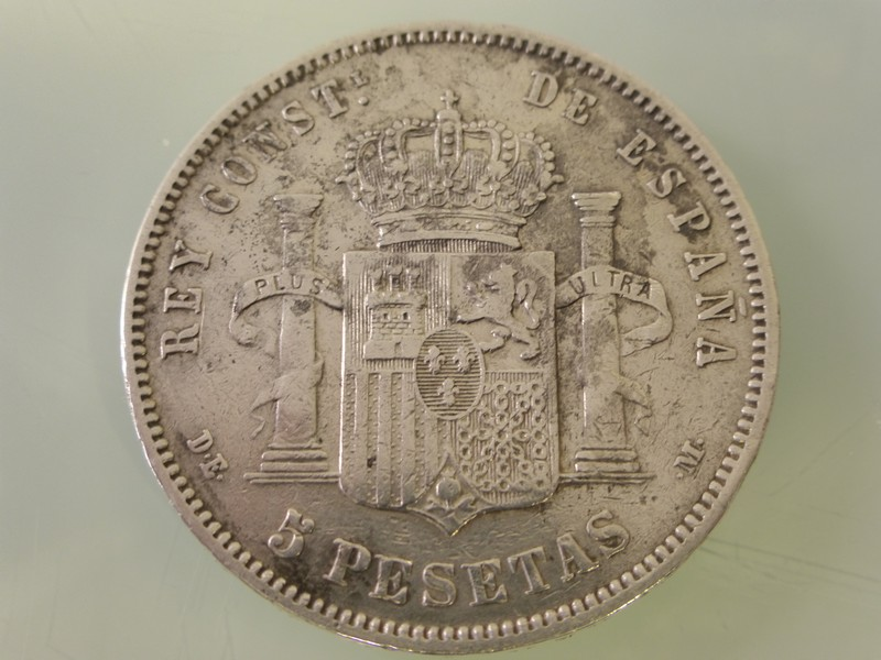 5 pesetas Alfonso XII 1875-77 y Alfonso XIII 1891-97 1877-P1010388_zpspxicbepx