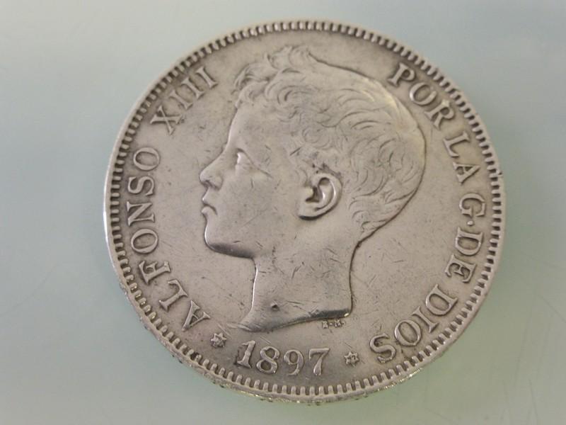 5 pesetas Alfonso XII 1875-77 y Alfonso XIII 1891-97 1897-P1010391_zpsvgsvoypn