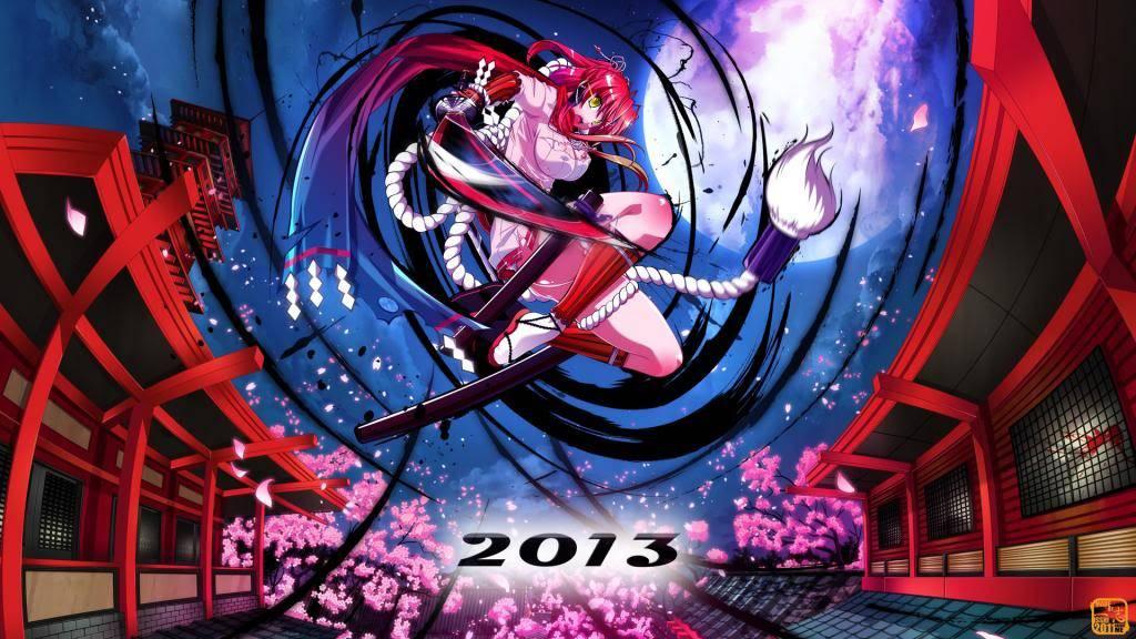[calendar] Hyakka Ryouran : samurai girl ! 2013 1_zps510402c8