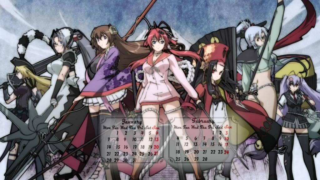 [calendar] Hyakka Ryouran : samurai girl ! 2013 2_zpscff07638