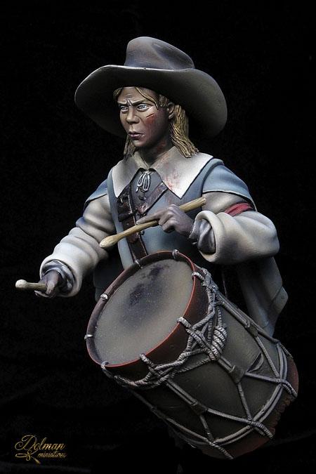 Dolman Miniatures.Drummer Boy. 30th Years War. 1643 0358RocroiTambor_zpsad0a1234