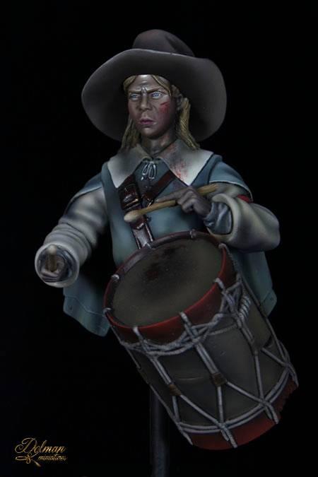 Dolman Miniatures.Drummer Boy. 30th Years War. 1643 1_zps51c90de5
