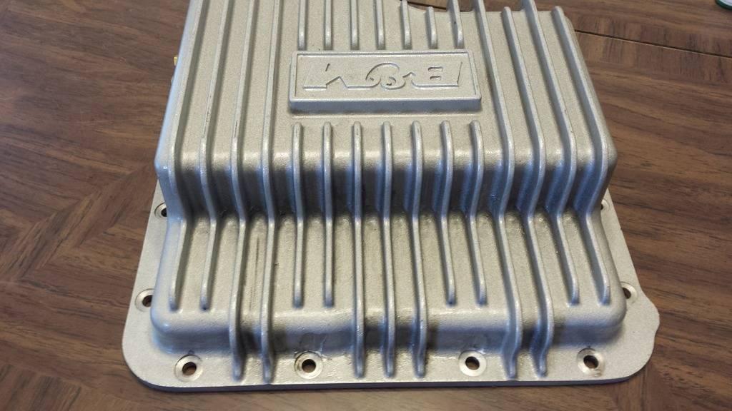 B&M finned aluminum transmision pan pics  (new price  $95.00 + shipping) 20160415_174831_zps8fx5twwd
