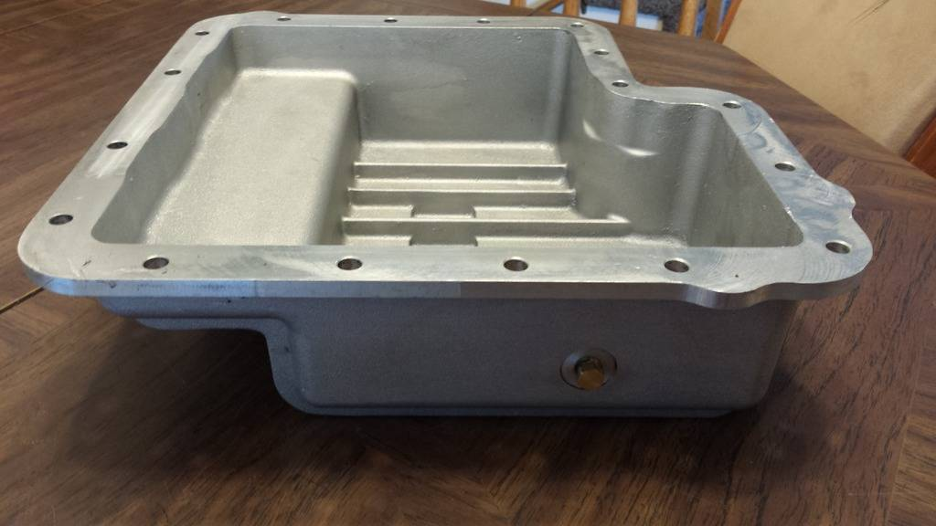 B&M finned aluminum transmision pan pics  (new price  $95.00 + shipping) 20160415_175125_zpsofd671gs