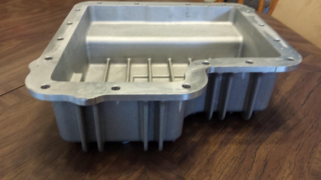 B&M finned aluminum transmision pan pics  (new price  $95.00 + shipping) 20160415_175204_zpsljmrd4nc