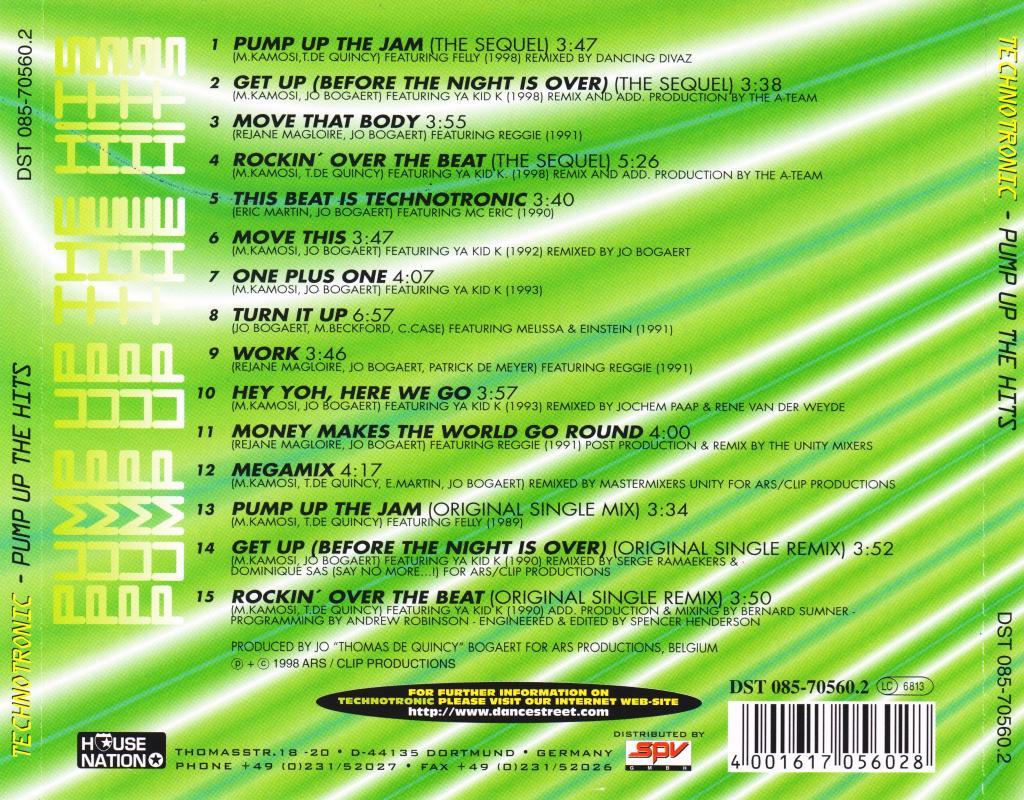 Technotronic – Pump Up The Hits (FLAC) Back_zpsa02dd6e2