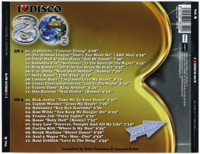 V.A. - I Love Disco 80's (8 Vols.) (WAV) Various-ILoveDisco80sVol6-Back01Custom_zpsfe162804