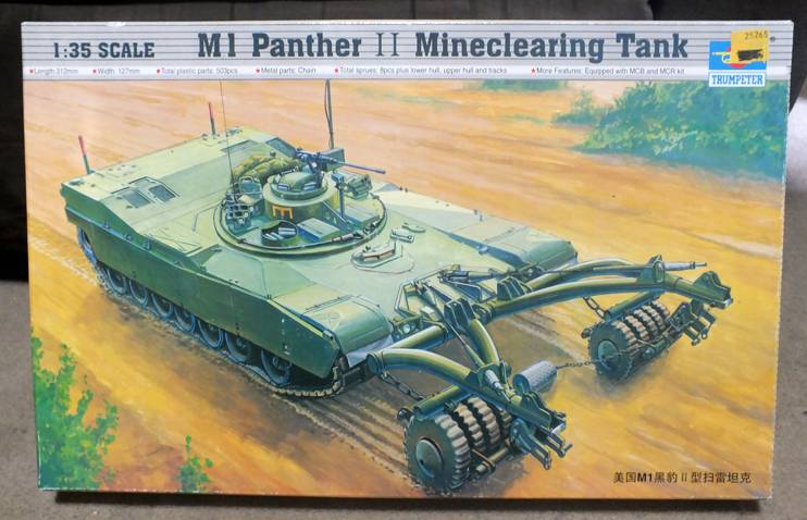Trumpeter 1:35 M1 Panther II Mineclearing Tank 240613016A_zpsc9943c10