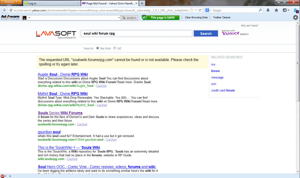 Yahoo error: the URL cannot be found or is unavailable Yahooerror_zpsadace177