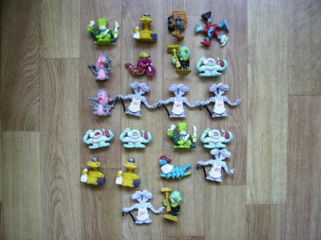 Comic Alien 1993 , petites figurines en PVC Comicalien