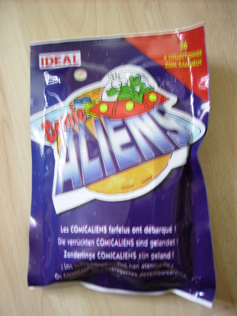 Comic Alien 1993 , petites figurines en PVC Comicalien11