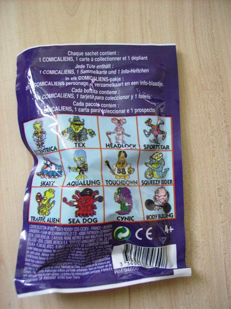 Comic Alien 1993 , petites figurines en PVC Comicalien12