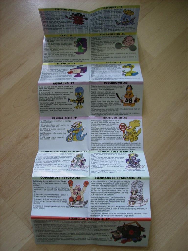 Comic Alien 1993 , petites figurines en PVC Comicalien14
