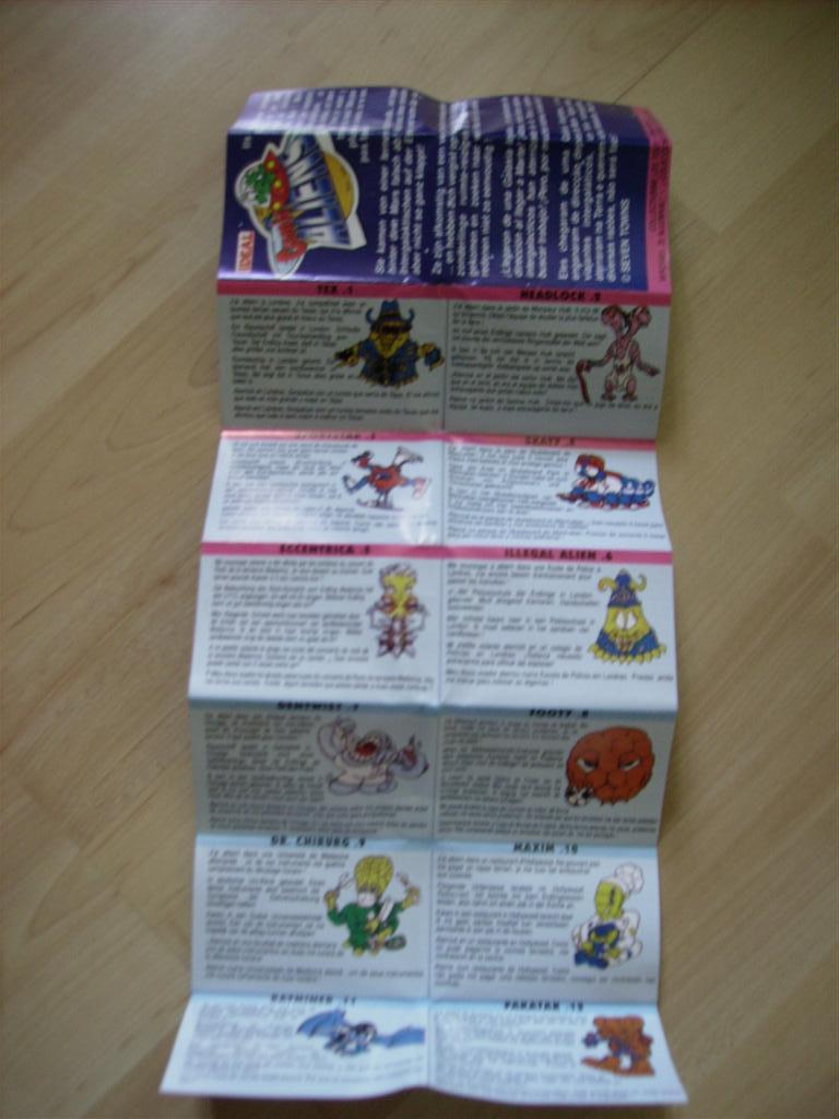 Comic Alien 1993 , petites figurines en PVC Comicalien15