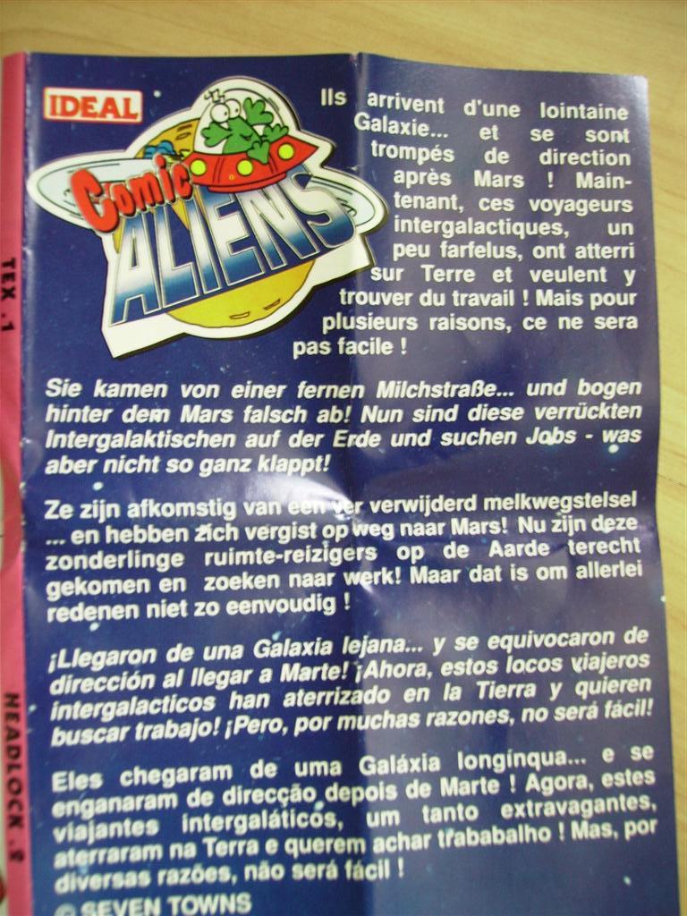 Comic Alien 1993 , petites figurines en PVC Comicalien16