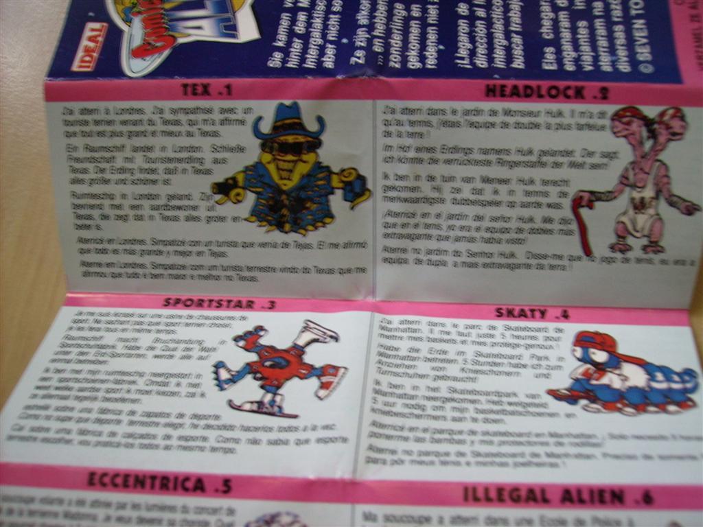 Comic Alien 1993 , petites figurines en PVC Comicalien2
