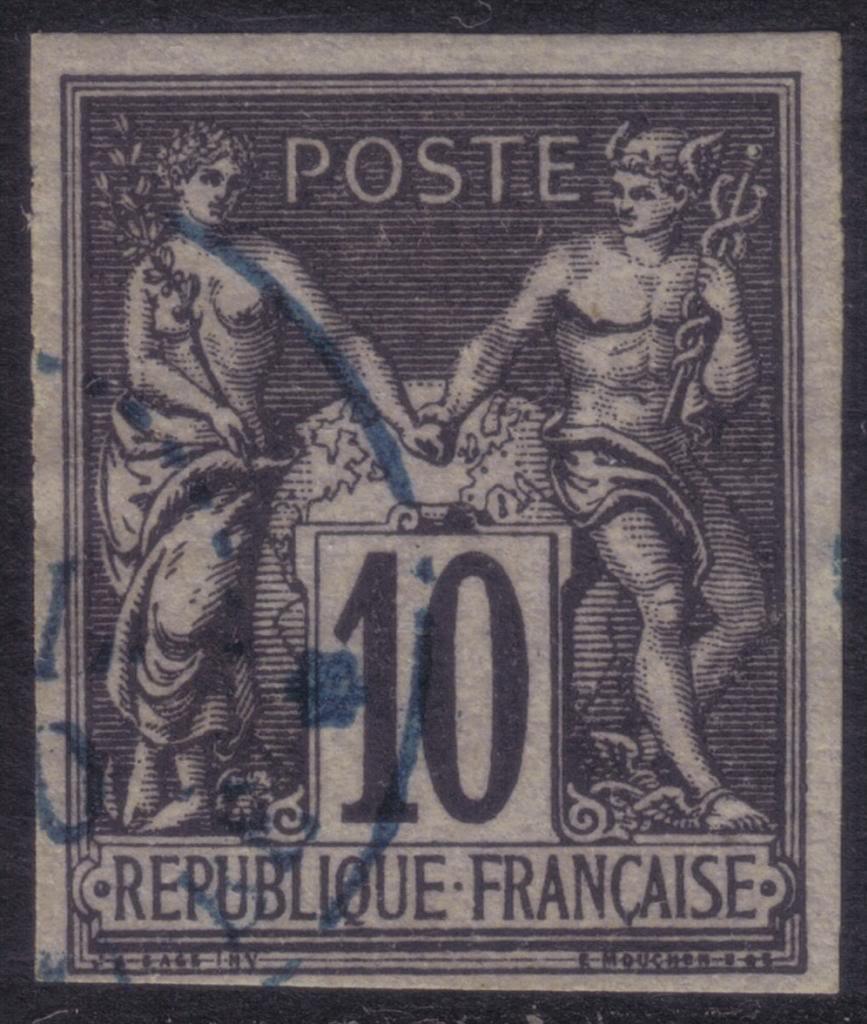 "Nossi-Bé cachet de 1880 sans ""Mayotte"" Aaa3"