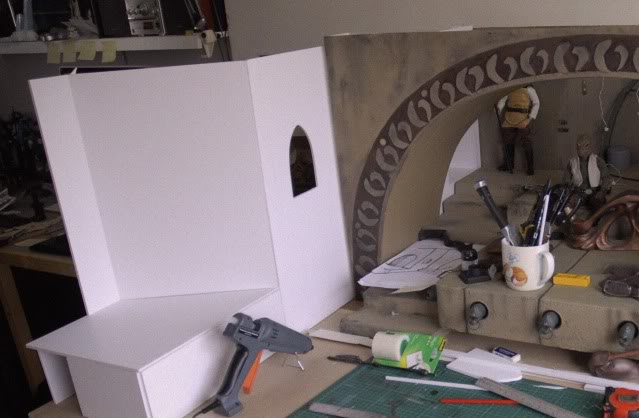 Custom Diorama 1:6 Scale Jabba the Hutt Sideshow 10-1