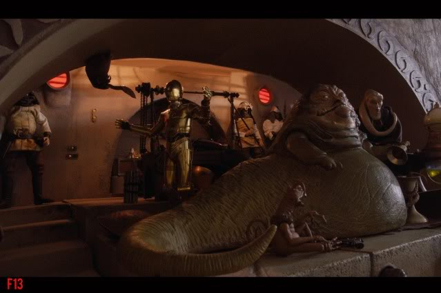 Custom Diorama 1:6 Scale Jabba the Hutt Sideshow 11