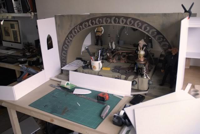 Custom Diorama 1:6 Scale Jabba the Hutt Sideshow 9-1